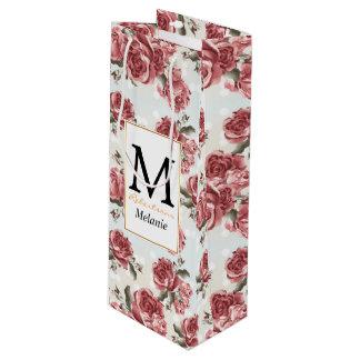 Vintager romantischer gezeichneter geschenktüte für weinflaschen