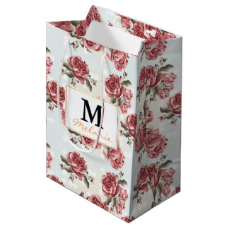 Vintager romantischer gezeichneter mittlere geschenktüte