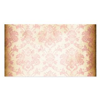 Vintager rosa Damast Visitenkarten