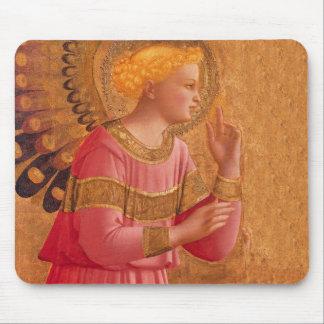 Vintager rosa goldener christlicher Engel Mauspads