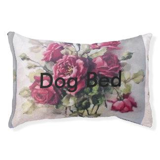 Vintager Rosen-Blumenstrauß Haustierbett