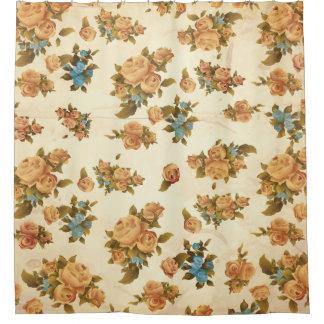 Vintager Rosen-Duschvorhang Duschvorhang