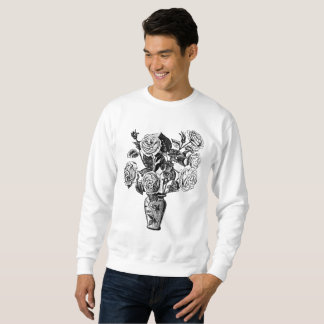 Vintager Rosen-Vase Sweatshirt
