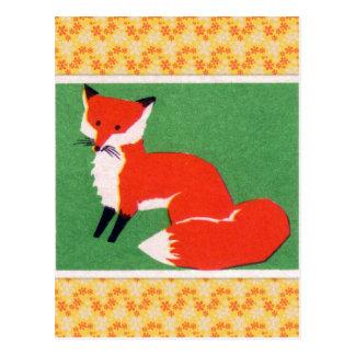 Vintager roter Fox-Druck Postkarte