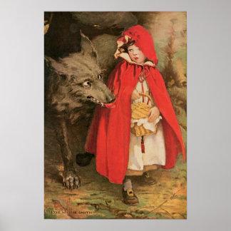 Vintager Rotkäppchen Jessie Wilcox Smith Poster