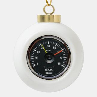 Vintager runder analoger Auto-Tachometer Keramik Kugel-Ornament