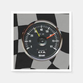 Vintager runder analoger Auto-Tachometer Serviette