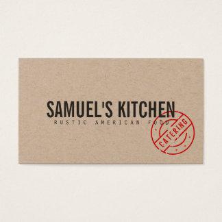 Vintager rustikaler moderner Catering Kraftpapier Visitenkarte
