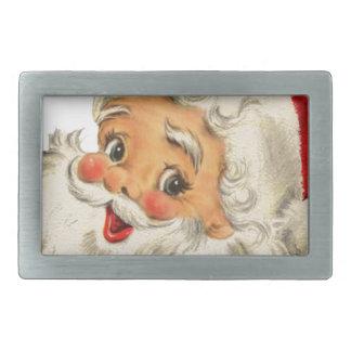 Vintager Sankt-Schnee Weihnachtswinterfeiertag Rechteckige Gürtelschnallen