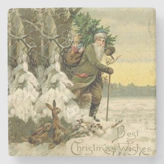 Vintager Sankt-Weihnachtsbaum viktorianisch Steinuntersetzer
