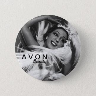 Vintager schauender Knopf AVON Runder Button 5,1 Cm