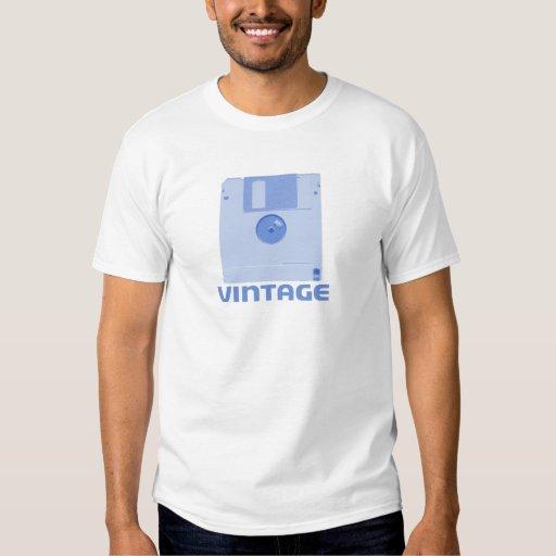 Vintager schlaffer blauer T - Shirt