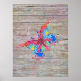 Vintager Schmetterling der coolen niedlichen Poster