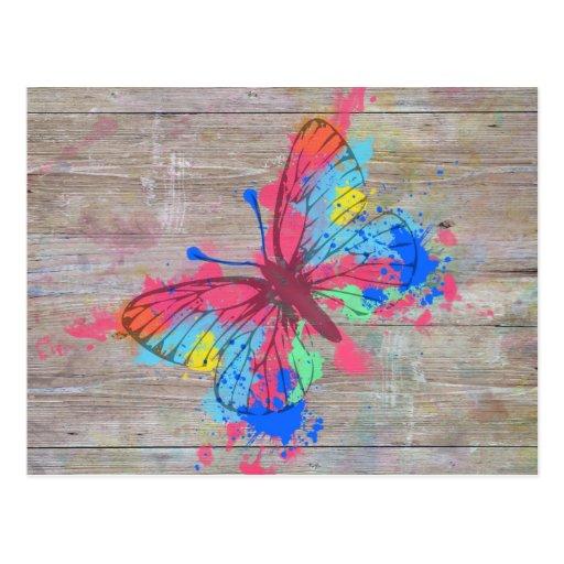 Vintager Schmetterling der coolen niedlichen Postkarten