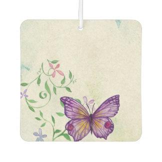 Vintager Schmetterling mit Blumen Autolufterfrischer