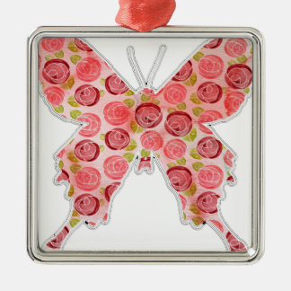 Vintager Schmetterling Silbernes Ornament