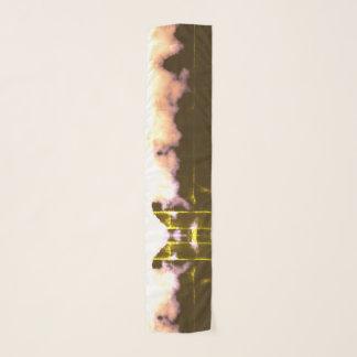 Vintager Schmetterlings-Effekt-gelbes Schal