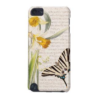Vintager Schmetterlings-Narzissen-Blumen iPhone 7 iPod Touch 5G Hülle