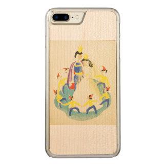 Vintager Schnee weiß und das sieben Zwerg-Plakat Carved iPhone 8 Plus/7 Plus Hülle