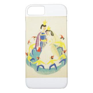 Vintager Schnee weiß und das sieben Zwerg-Plakat iPhone 8/7 Hülle