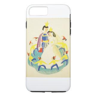 Vintager Schnee weiß und das sieben Zwerg-Plakat iPhone 8 Plus/7 Plus Hülle
