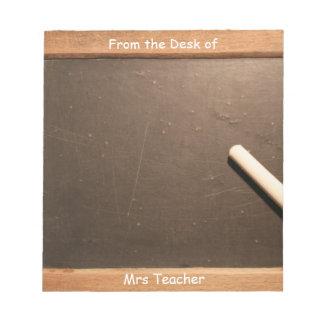Vintager Schulschiefer-personalisierter Notizblock