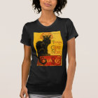 Vintager schwarze Katzen-Kunst Nouveau Chat Noir T-Shirt