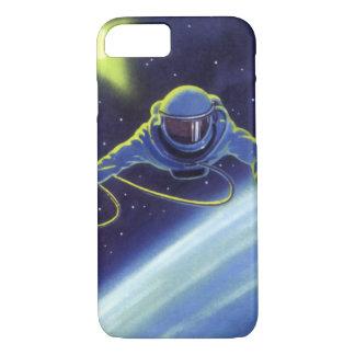 Vintager Science Fiction-Astronaut auf einem iPhone 7 Hülle
