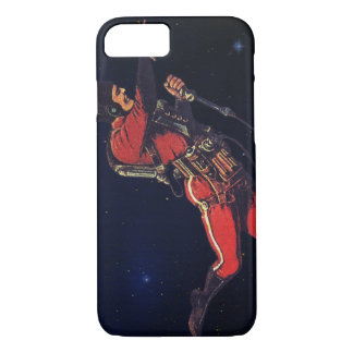 Vintager Science Fiction-Astronaut im Weltraum iPhone 7 Hülle