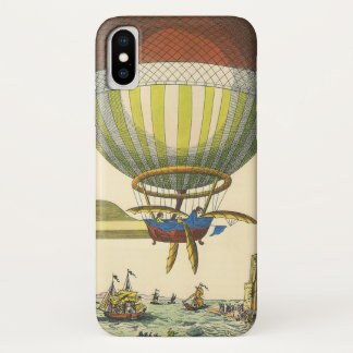 Vintager Science Fiction Steampunk Heißluft-Ballon iPhone X Hülle
