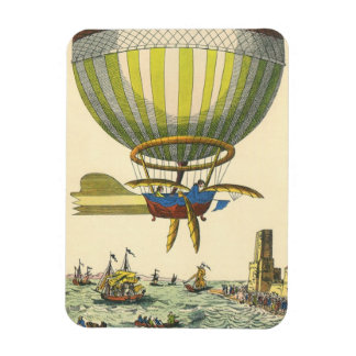 Vintager Science Fiction Steampunk Heißluft-Ballon Magnet