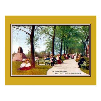 Vintager See-Fronten-Park St Joseph MI Postkarte