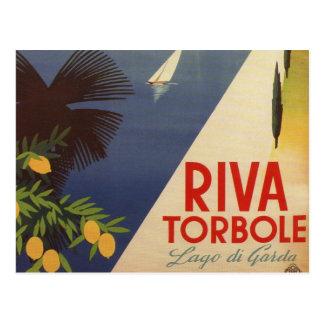 Vintager See Garda Riva Torbole Italien Tourismus Postkarten