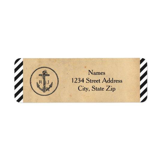 Vintager Seeanker - Adressen-Etiketten Kleiner Adressaufkleber