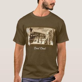 Vintager Sepia-Weihnachtszug Statin T-Shirt