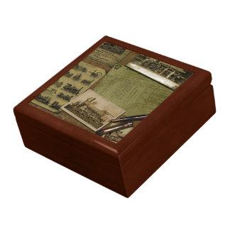 Vintager sich fortbewegender Jewlery Kasten Große Quadratische Schatulle