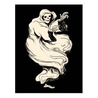 Vintager Skeleton Geist Postkarte