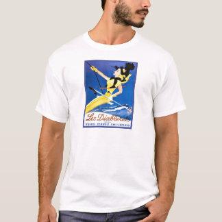 Vintager Ski 1poster, les diablerets, die Schweiz T-Shirt