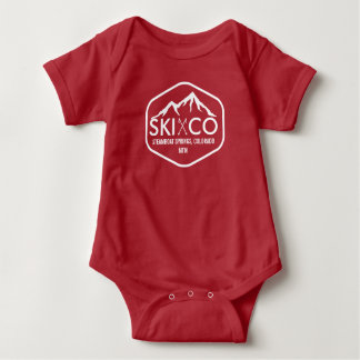 Vintager Ski-Berg Steamboat Springs Colorado Baby Strampler