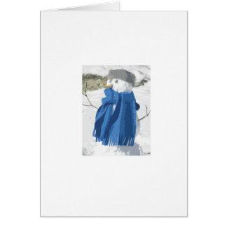 Vintager Snowman Effekt des Ausschnitts Grußkarte