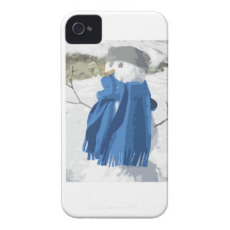 Vintager Snowman Effekt des Ausschnitts iPhone 4 Cover
