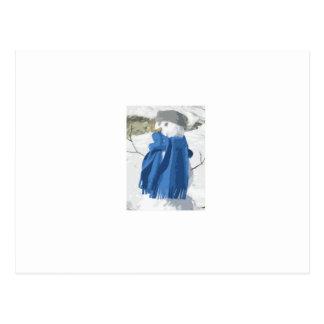 Vintager Snowman Effekt des Ausschnitts Postkarten