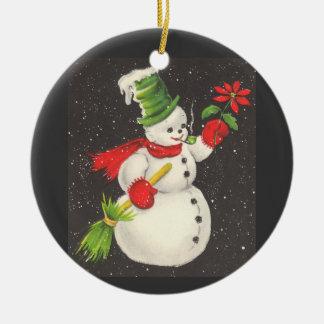 Vintager Snowman Ornamente
