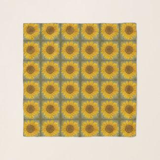 Vintager Sonnenblume-Musterchiffon-Schal Schal