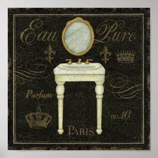 Vintager Spiegel und Wanne Poster