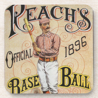 Vintager Sport Baseball, der Getränkeuntersetzer