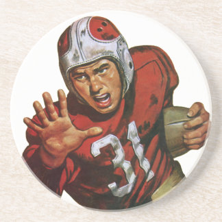 Vintager Sport-Fußball-Spieler, der zurück Nr. 31 Getränkeuntersetzer