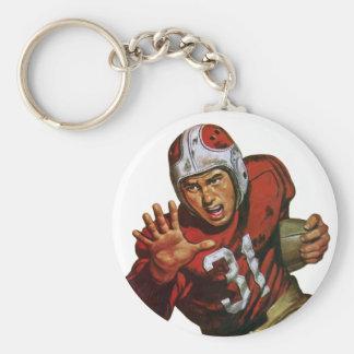 Vintager Sport-Fußball-Spieler, der zurück Nr. 31 Schlüsselanhänger