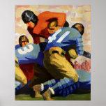 Vintager Sport, Fußball-Spieler Posterdrucke