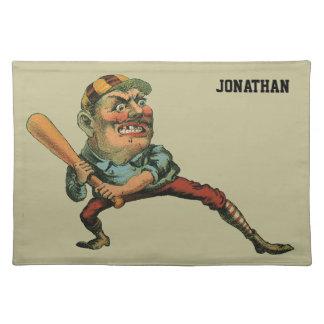 Vintager Sport, verärgerter Baseball-Spieler Tischset